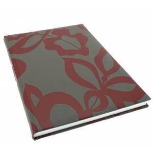 Floral - Libro de Firmas CAMILA Gris Berenjena Burdeos