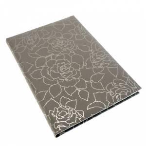 Floral - Libro de Firmas ROSAS Gris Berenjena (Últimas Unidades)