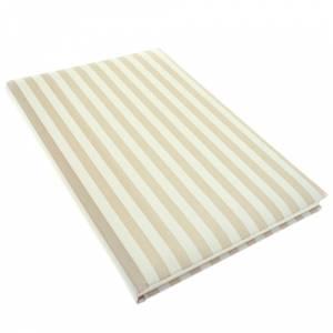 Textura - Libro de Firmas RAYAS VERTICALES Crema-Blanco